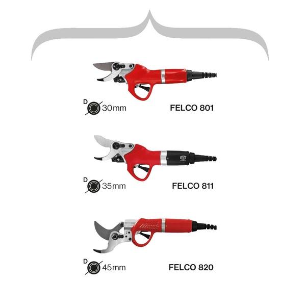 Všetky tri modely elektrických nožníc FELCO - FELCO 801 8a24e3a82eb